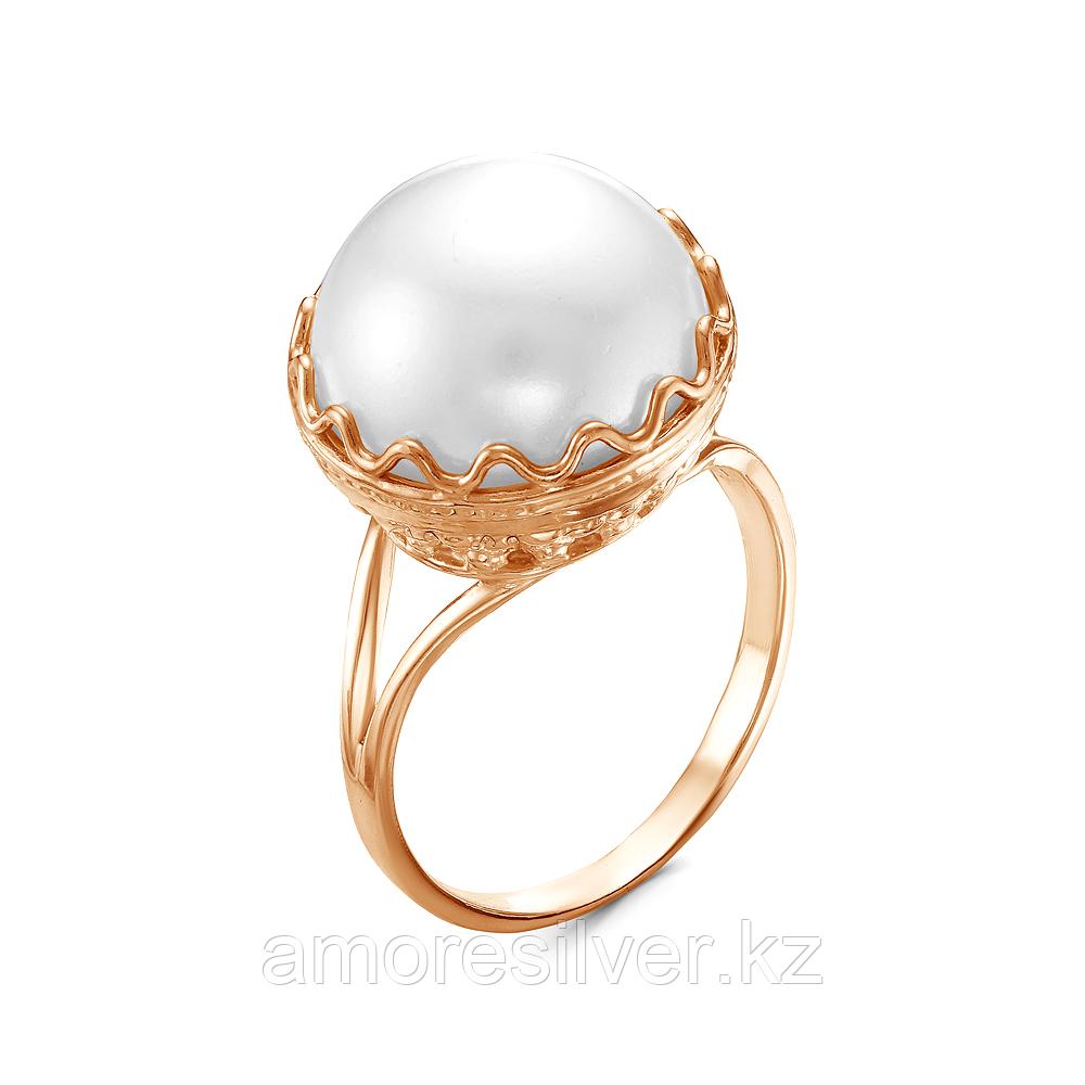 Серебряное кольцо с жемчугом имитированным  Красная Пресня 23310591