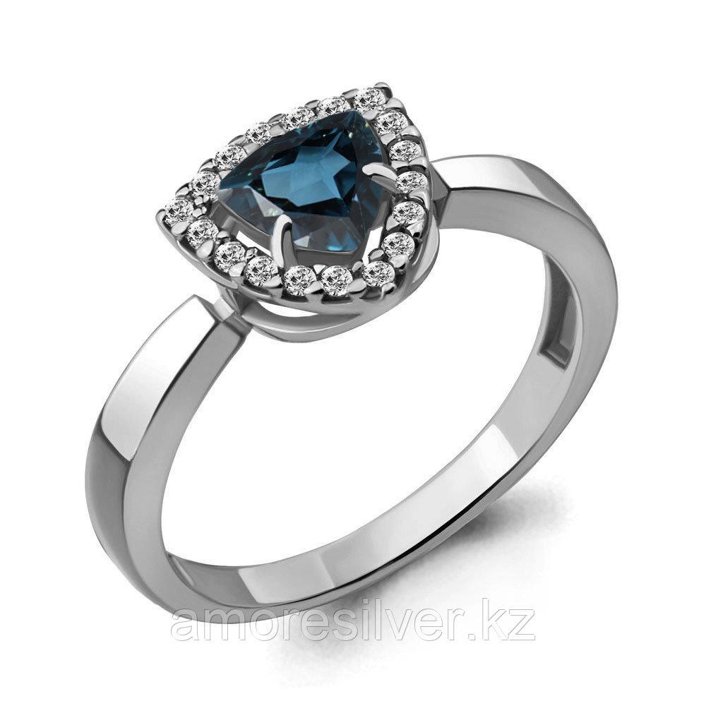 Кольцо из серебра с топазом лондон  Aquamarine 6916508А