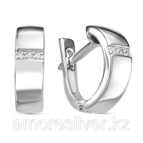 Серьги из серебра с бриллиантом  Teosa 2000-0288-DN-r