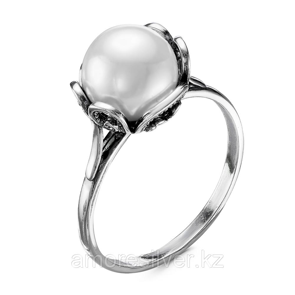 Серебряное кольцо с жемчугом имитированным  Красная Пресня 23610588