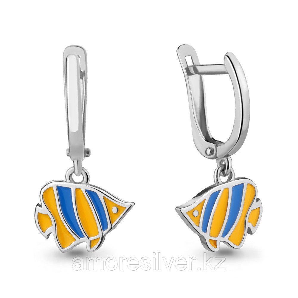 Серебряные серьги  Aquamarine 33658