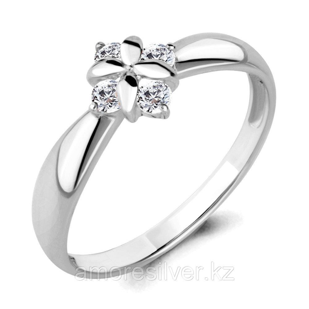 Кольцо из серебра с фианитом  Aquamarine 68236А