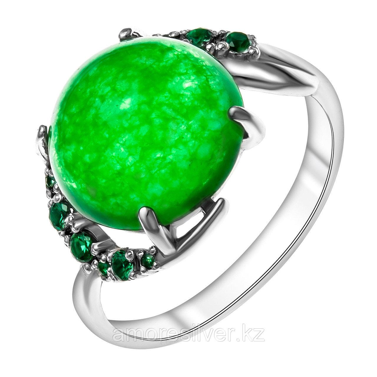 Серебряное кольцо с нанокристаллом синт. и алпанитом  Приволжский Ювелир 261511-GA