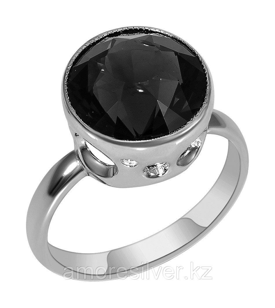 Кольцо Teosa серебро с родием, раухтопаз, круг 13316Р