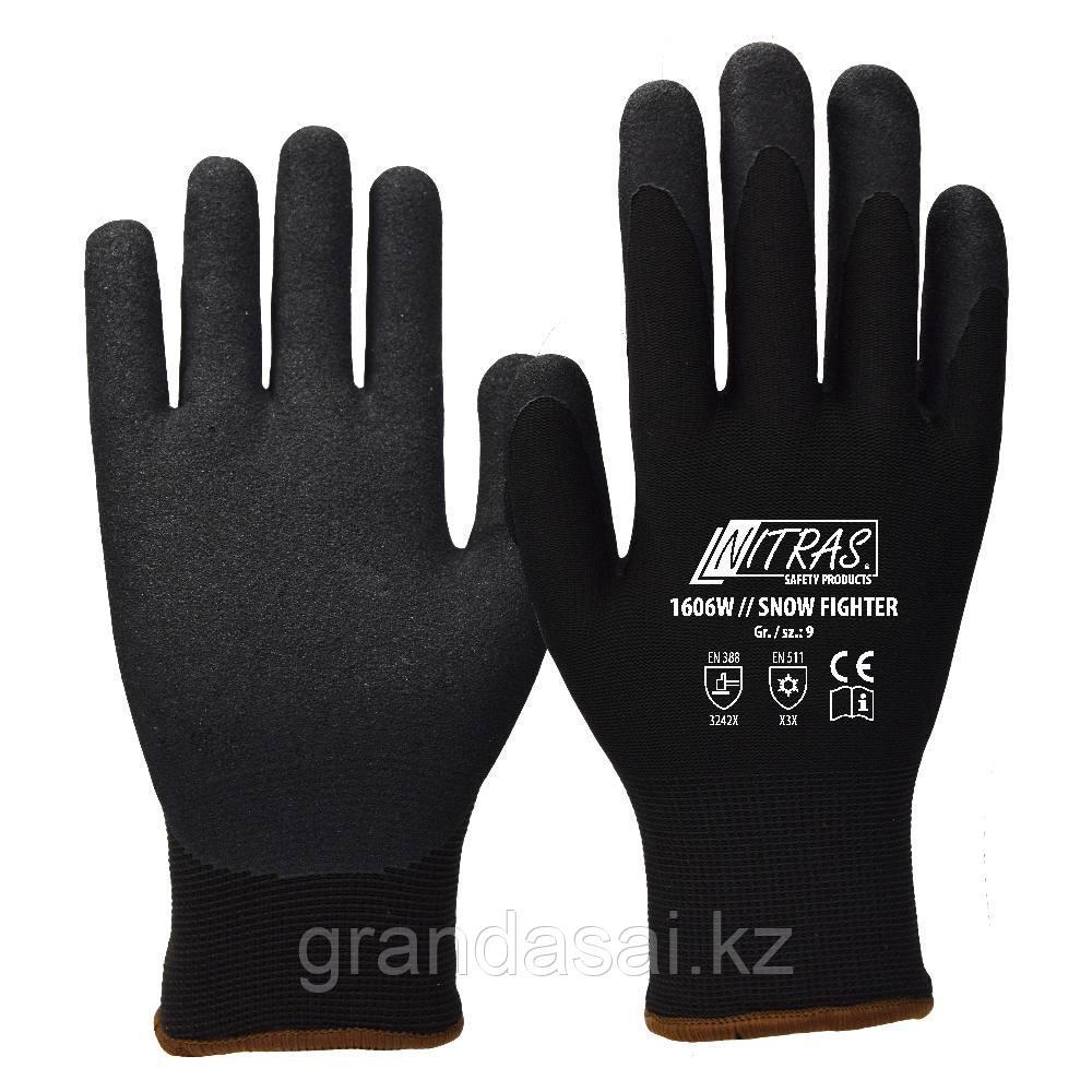 Перчатки утепленные трикотажные с нитриловым покрытием NITRAS SNOW FIGHTER
