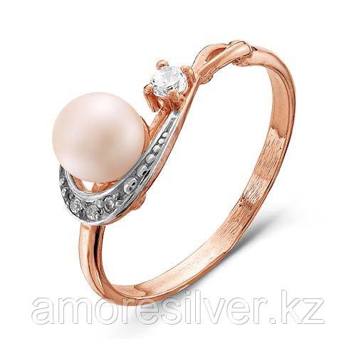 Серебряное кольцо с жемчугом и жемчугом культ.  Красная Пресня 2336355Д