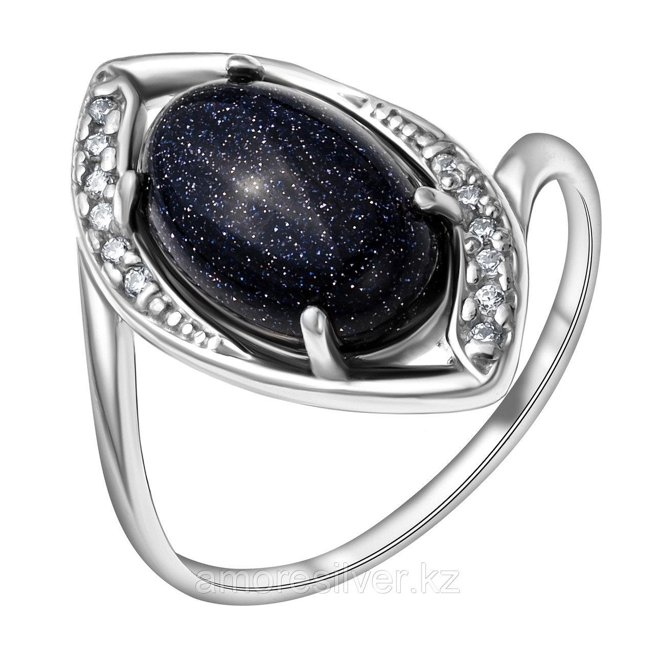Серебряное кольцо с  и авантюрином  Приволжский Ювелир 261183-GLS