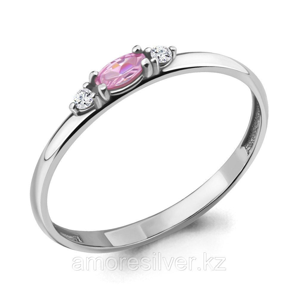 Кольцо из серебра с фианитом  Aquamarine 68259В