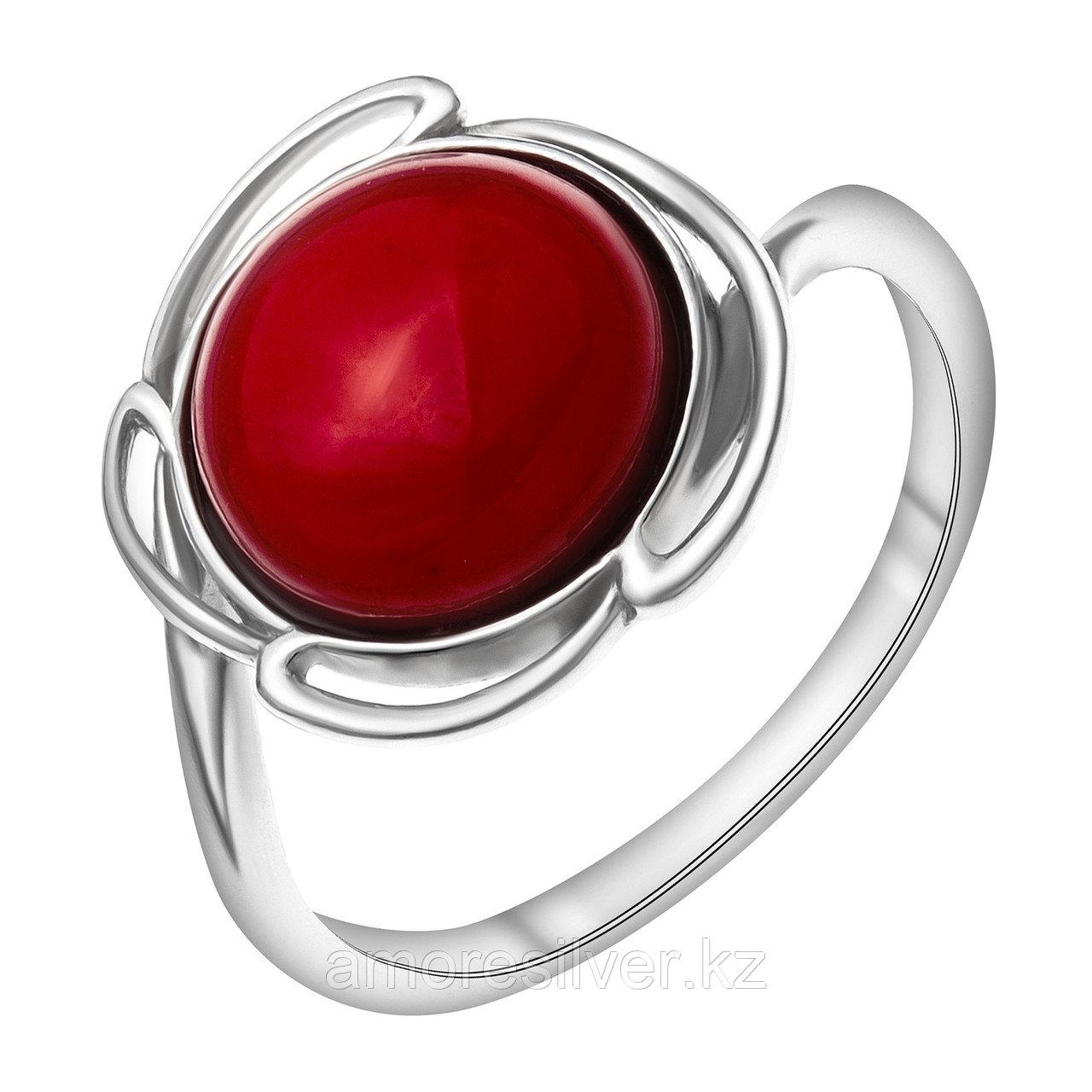Серебряное кольцо с кораллом  Приволжский Ювелир 251268-CRL