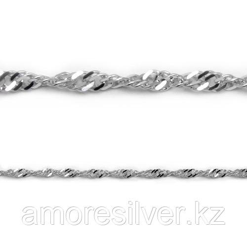 Серебряная цепь  Красцветмет НЦ 22-028-3-040 размеры - 40 45 50 55