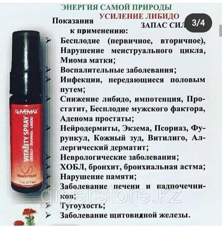 СПРЕЙ VITALITI  ОТ  ALIVEMAX