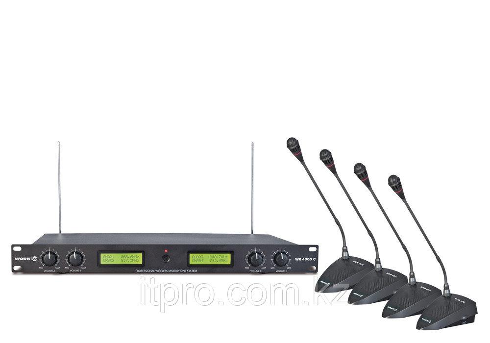 Беспроводная микрофонная дискуссионная система WORK WR 4000(K)