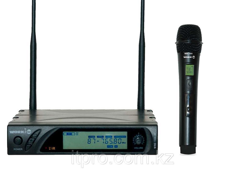 Беспроводной микрофон WORK WRD 1100 AF/1, 99 каналов УВЧ