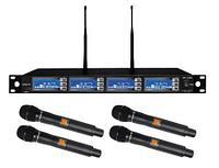 Комплект из 4-х беспроводных микрофонов WORK WR 4200/1, 4x200 каналов
