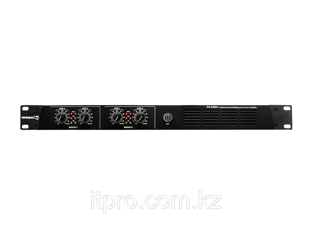 Трансляционный усилитель 4-х канальный Work PA 4500 L