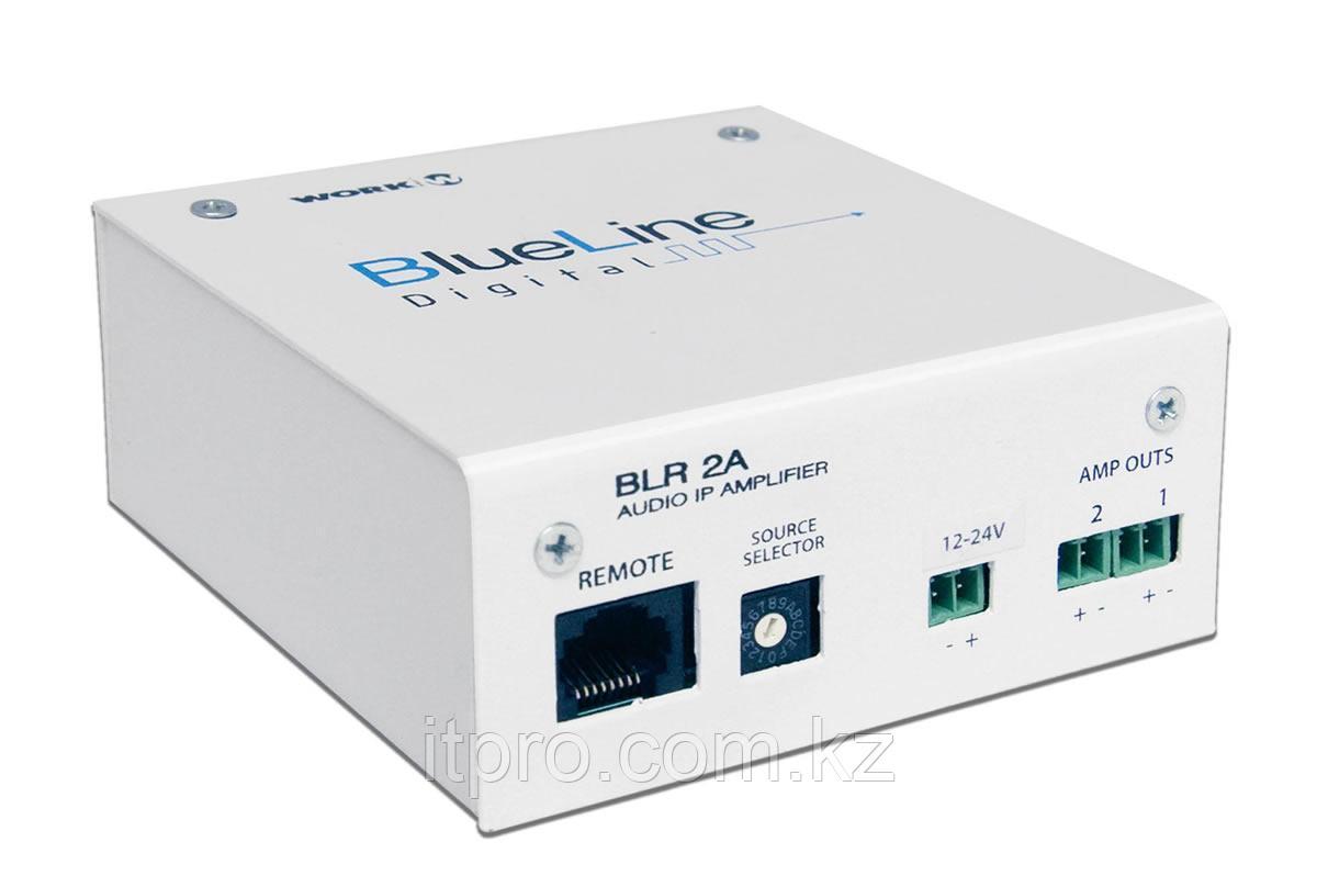 Стерео IP ресивер аудиосигнала со встроенным усилителем WORK BLR 2A BlueLine Digital