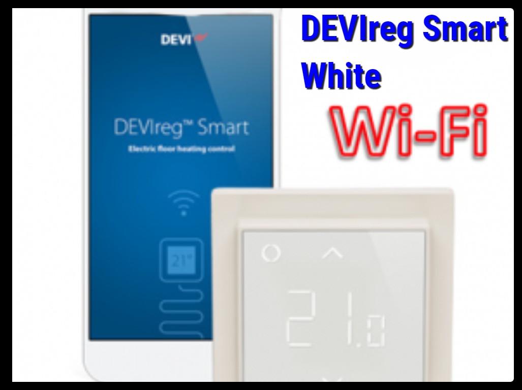 Программируемый терморегулятор DEVIreg Smart White - Wi-Fi