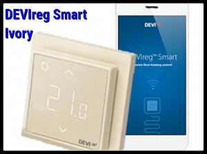 Программируемый терморегулятор DEVIreg Smart Ivory - Wi-Fi