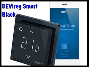 Программируемый терморегулятор DEVIreg Smart Black - Wi-Fi