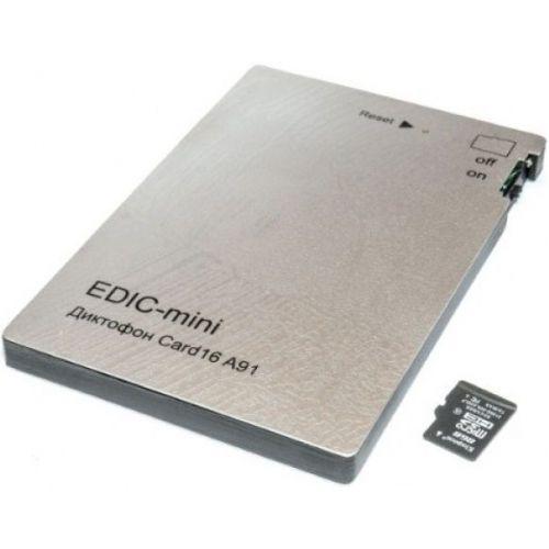 Цифровой мини диктофон Edic-mini CARD16 A91М
