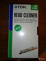 Чистящая видео кассета TDK TCL-11 (сухая чистка VIDEO головок) VHS