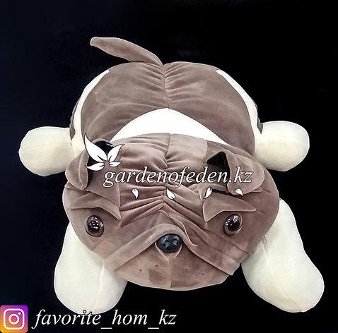 """Мягкая игрушка-подушка """"Собака"""". Цвет: Коричневый и Кремовый. Материал: Бархат/Плюш., фото 2"""
