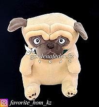"""Мягкая игрушка """"Собака"""". Цвет: Коричневый и Кремовый. Материал: Бархат/Плюш."""