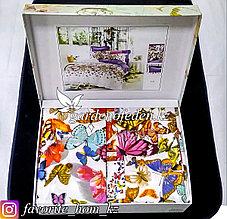 Комплект постельного белья Kenzo. Декор: Бабочки. Цвет: Белый.