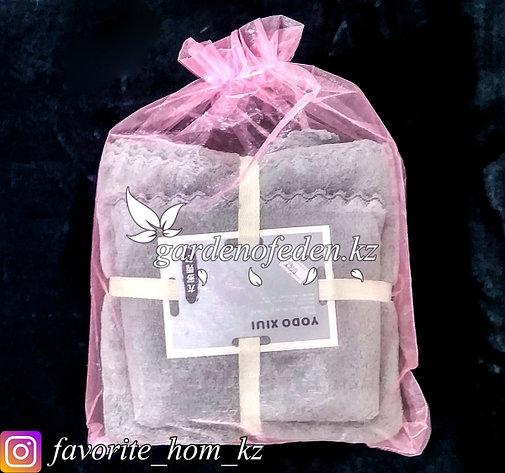 Подарочный комплект полотенец YODO XIUI (Япония). Материал: Микрофибра. Цвет: Серый., фото 2