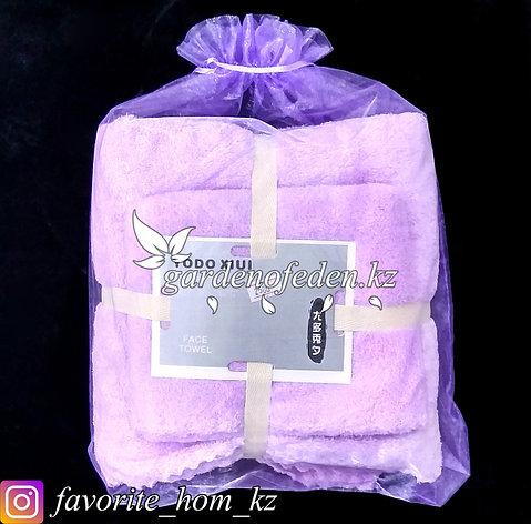 Подарочный комплект полотенец YODO XIUI (Япония). Материал: Микрофибра. Цвет: Сиреневый., фото 2