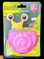 """Держатель для для зубных щеток/пасты, настенный """"Улитка"""". Материал: Пластик. Цвет: Розовый."""