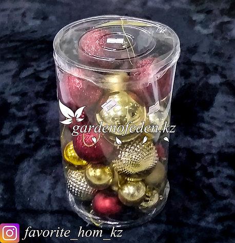 Комплект елочных игрушек в пластиковом кейсе. Цвет: Разные цвета., фото 2