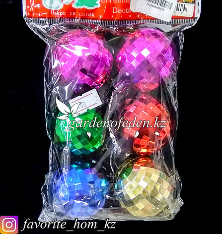 Комплект елочных игрушек, малых. Цвет: Разные цвета., фото 2