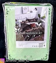 """Комплект постельного белья """"Зеленый Бамбук"""". Декор: Цветные полосы. Цвет: Коричневый."""