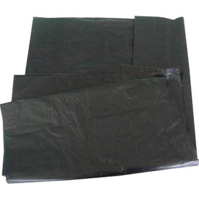 Мешок д/мусора 160л (70+20)х120см 65мкм черный ПВД, 10 шт