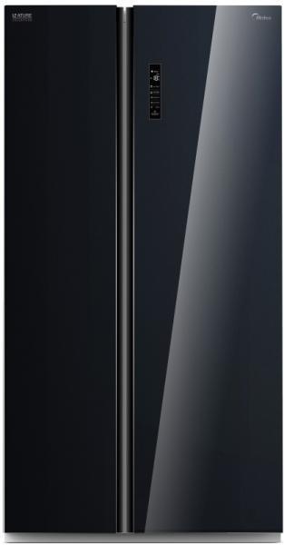 Холодильник Midea HC-689WEN (BG) Black стеклянные двери