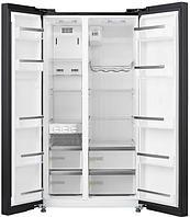 Холодильник Midea HC-689WEN (BG) Black стеклянные двери, фото 2