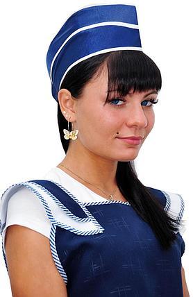 Женская пилотка нейлоновая темно-синяя в Алматы, фото 2