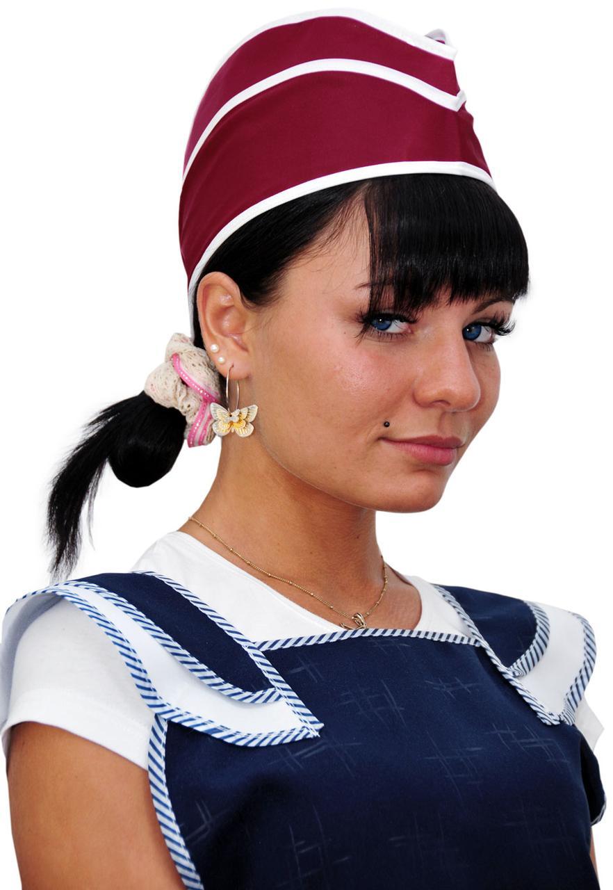 Женская пилотка нейлоновая бордовая в Алматы