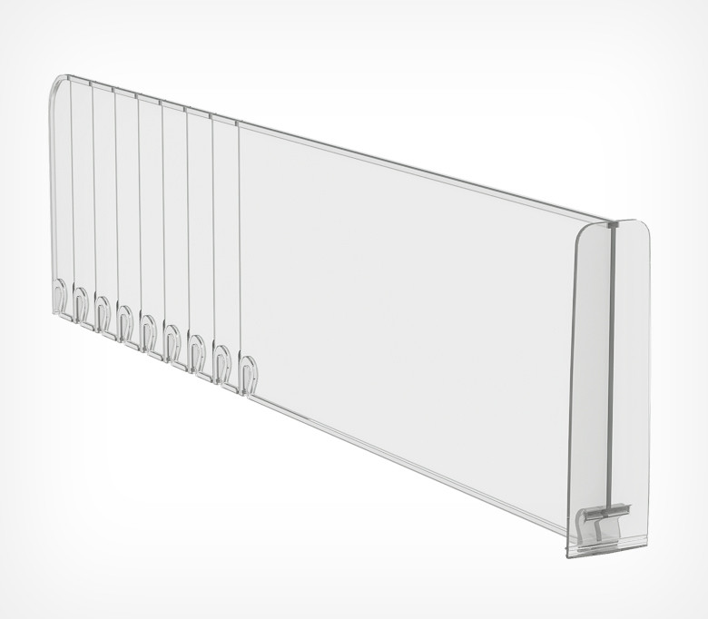 Пластиковый обламывающийся разделитель с передним ограничителем (L=285-485 мм/H=120) DIV120-BT120 арт.770120