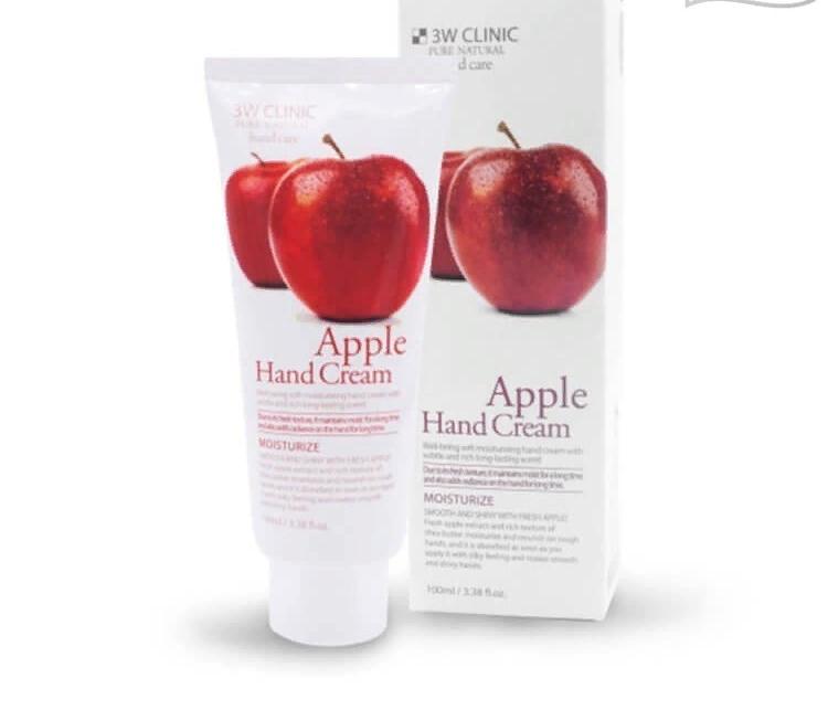 Крем для рук с экстрактом яблока  3W Clinic Pure Natural Hand Care
