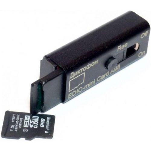 Цифровой скрытный мини диктофон Edic-mini Card A98