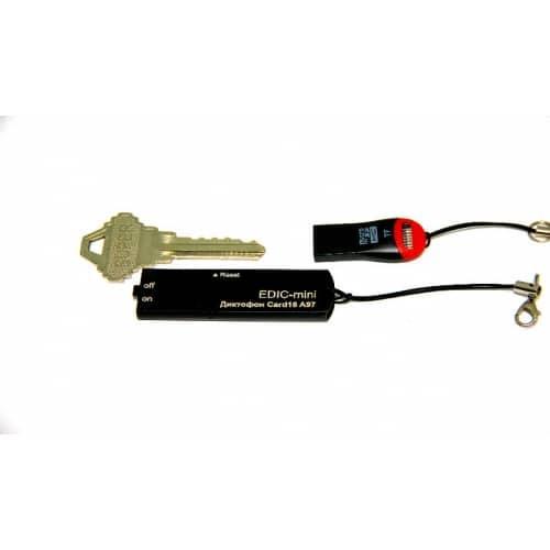 Миниатюрный цифровой диктофон c записью на карту памяти Edic-mini CARD16 A97M