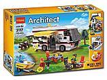 """Конструктор Decool 3117 Architect (аналог лего Lego Creator 31052) """"Кемпинг 3 в 1"""" 792 дет, фото 5"""