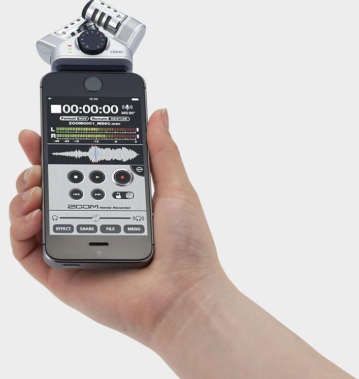Внешний микрофон Zoom iQ6 для смартфона - фото 2