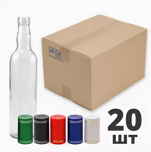 Бутылка  0.5л гуала (пробки не в комплекте)