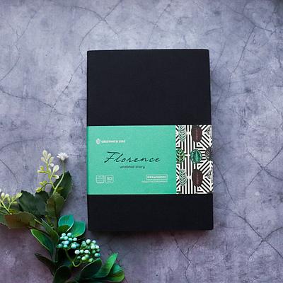 Ежедневник недатированный В6, 160 листов Florence, искусственная кожа цветной срез, чёрный