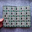 Ежедневник недатированный В6, 160 листов Florence, искусственная кожа цветной срез, чёрный, фото 2