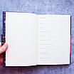 Ежедневник недатированный В6, 160 листов Florence, искусственная кожа цветной срез, чёрный, фото 3
