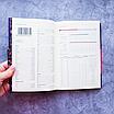 Ежедневник недатированный В6, 160 листов Florence, искусственная кожа цветной срез, чёрный, фото 4